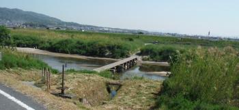 大和川の沈下橋