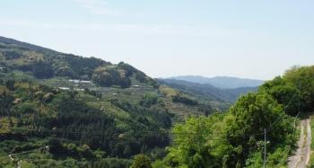 45km有田川町瀬井付近の村