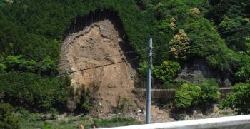 90km昨年の崩落がまだ手付かず