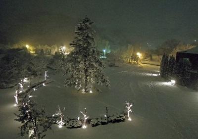 雪は幻想的だけど…