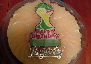 2014W杯仕様バースデーケーキ
