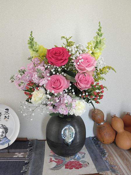 20140331100歳記念の花束①