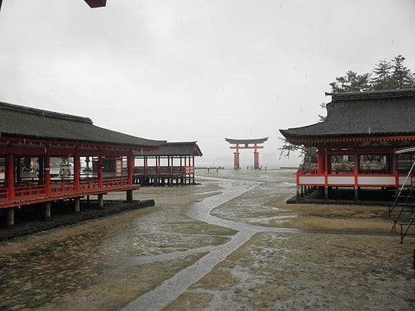 20140512厳島神社大鳥居と境内