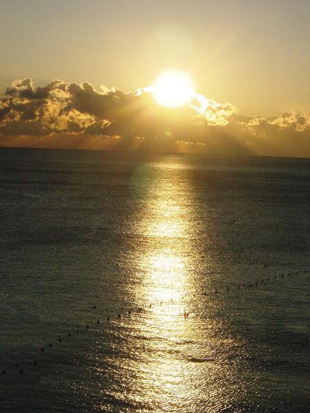 20060205夕日の道