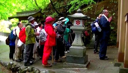 七面山登詣の祈り