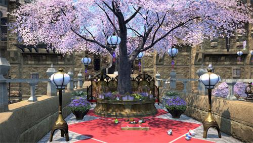 ぼんぼり、桃の花