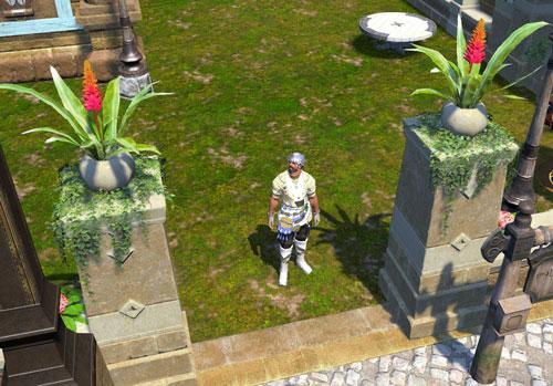 門柱の上に植木鉢