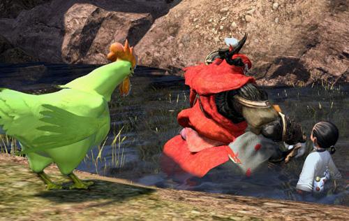 緑に鶏とギルガメッシュ
