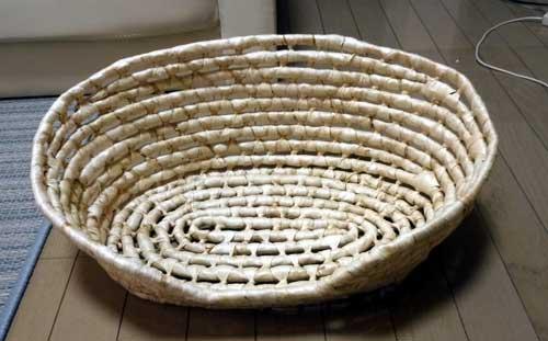 ペット編み籠ベッド