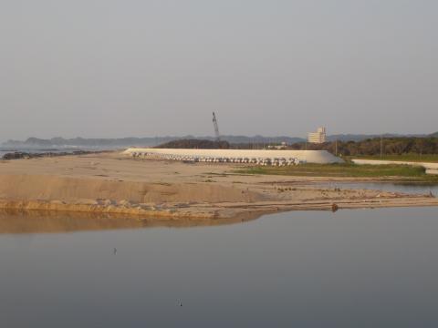 夏井川河口付近の景観