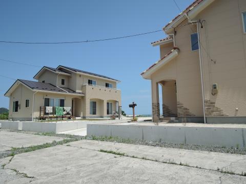 浜辺の新築住宅