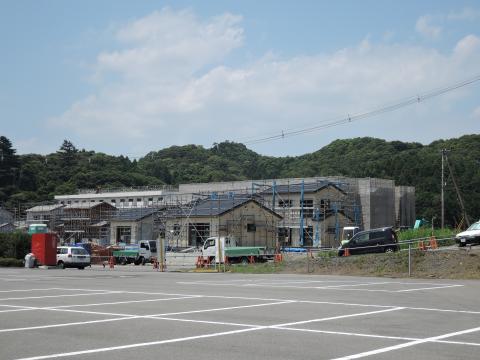 建設中の災害公営住宅