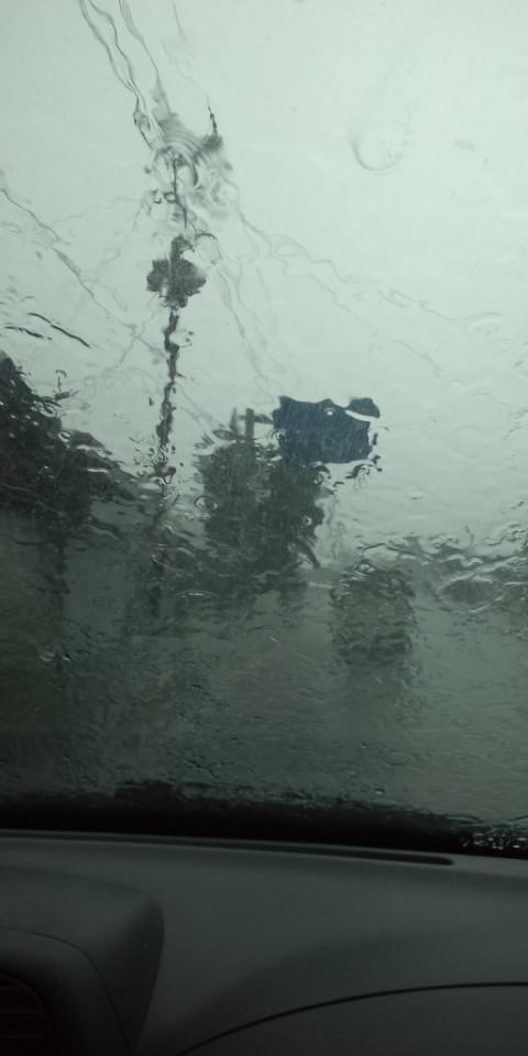 モーレツな雨!