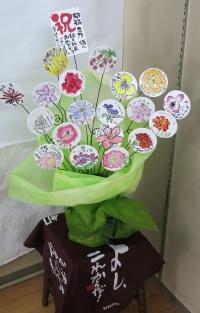 コースターの花かご