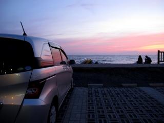 北条海岸の夕日2