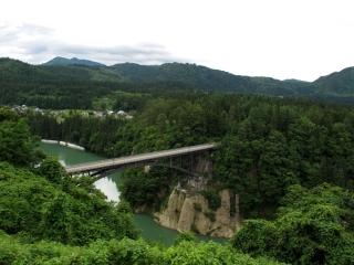 道の駅「尾瀬街道みしま宿」より只見川の眺望