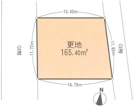 飯田岡区画図