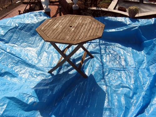 テーブル&チェアお色直し-9