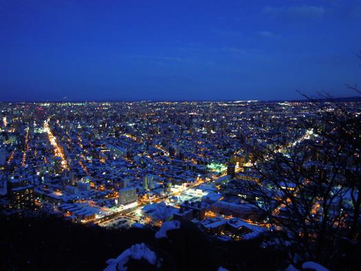 円山の夜景。