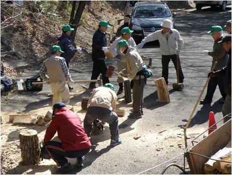八木山・薪づくり