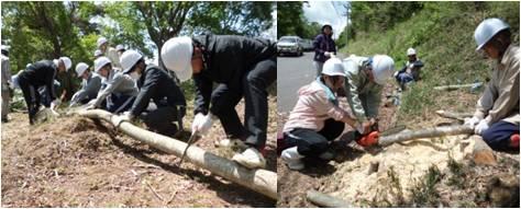 平和の森・木材加工