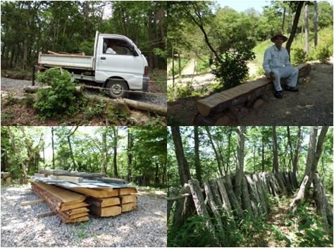 里山を守る会武並・木材活用