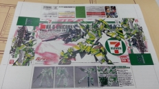 HGUC ユニコーンガンダム(デストロイモード)7-11カラーのパッケージ(箱絵)
