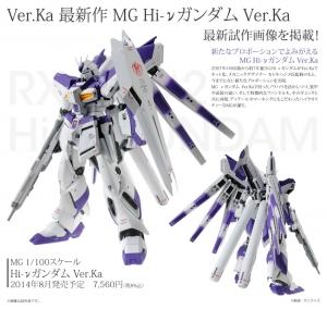 MG RX-93-v2 Hi-vガンダム Ver.Kaの塗装完成見本