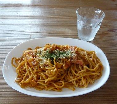 しかの心味噌スパゲッティ