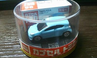缶コーヒーオマケ カプセルトミカ トヨタアクア