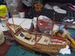竣工間近の帆船