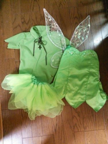 コスチューム ティンク ティンカーベル風 手作り 衣装 ピーターパン tink tinker bell peter pan costume handmade