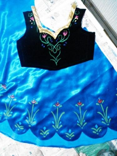 frozen anna costume handmade アナと雪の女王 衣装 手作り ハンドメイド 4日目 ドレス 型紙 無料