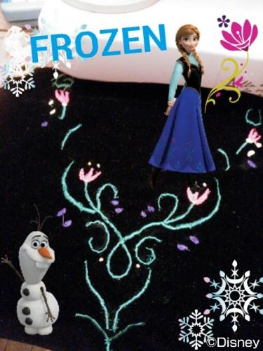 Frozen Anna handmade clothes costume アナと雪の女王 アナ 衣装 ドレス 手作り ハンドメイド 黒 ベスト 刺繍