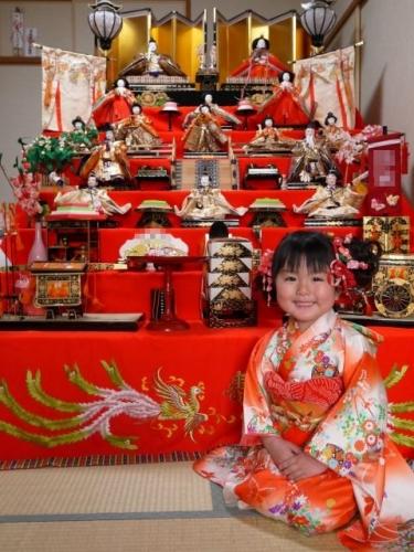 1 ひな人形 雛祭り 雛人形 7段飾り 髪飾り 手作り ハンドメイド