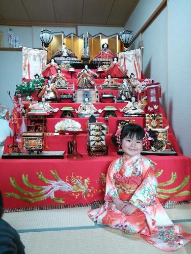 3 ひな人形 雛祭り 雛人形 7段飾り 髪飾り 手作り ハンドメイド