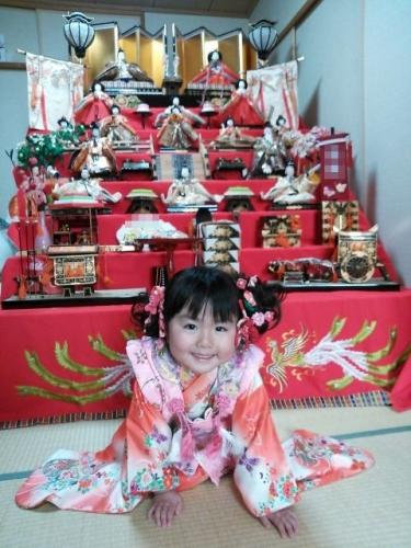 2 ひな人形 雛祭り 雛人形 7段飾り 髪飾り 手作り ハンドメイド