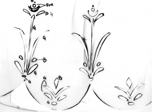 1 Frozen free pattern 110cm for kids アナと雪の女王 無料型紙 110cm 子供サイズ