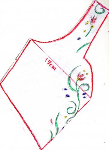 2 Frozen free pattern 110cm for kids アナと雪の女王 無料型紙 110cm 子供サイズ
