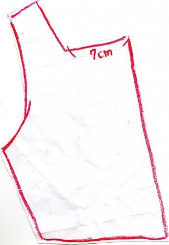 3 Frozen free pattern 110cm for kids アナと雪の女王 無料型紙 110cm 子供サイズ