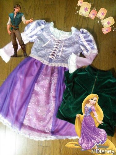 ドレス dress ユージーン フリン 手作り ラプンツェル ハンドメイド コスプレRapunzel and Flynn Rider (Eugene Fitzherbert) costume.