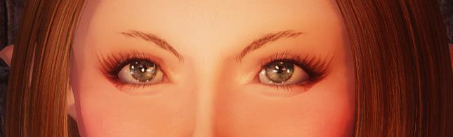 細っそい眉毛 & Eye Normal Map Fix |ハルビ山
