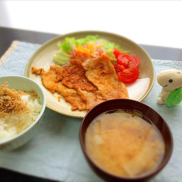 20140812_豚肉の生姜焼き
