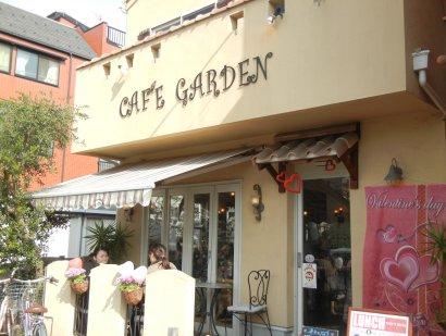 cafe garden店頭