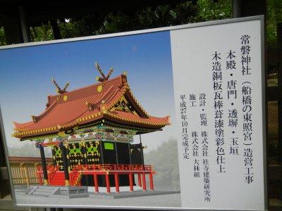 常盤神社造営工事中の看板