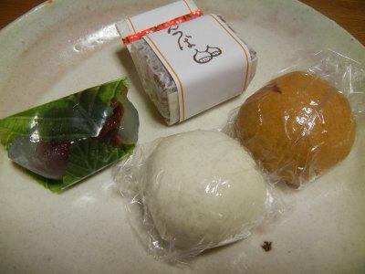 広瀬直船堂のお菓子