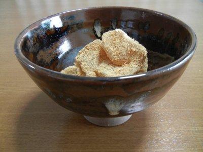 ささやのわらび餅in上野焼 呉器形茶碗写し