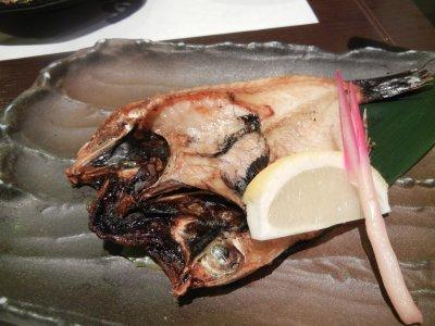 焼き魚(ノドクロ?)