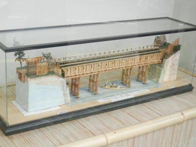 神田上水 懸樋の模型