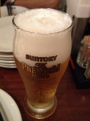 普通の瓶ビールからのプレモル